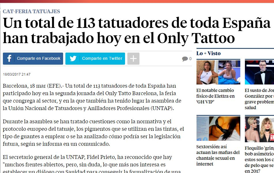 UNTAP en la Only Tattoo
